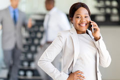 Afro american businesswoman Stock Photo