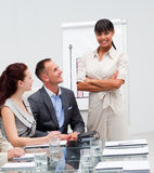 Afro-American businesswoman in a meeting Stock Images