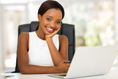 Afro american businesswoman office Royalty Free Stock Photo