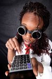 Afro american with calculator Stock Images
