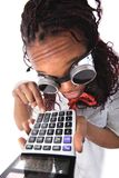 Afro american with calculator Stock Image