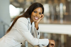 Afro american career woman Royalty Free Stock Photos