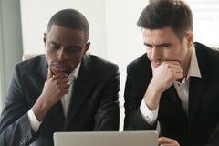 International investors doubts during presentation Stock Image