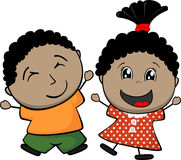 Afro american children Royalty Free Stock Photos