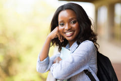 Afro american college girl royalty free stock photo