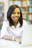 Afro american college student Stock Photos