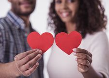 Afro American couple Stock Photography