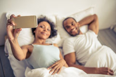 Afro American couple Stock Image