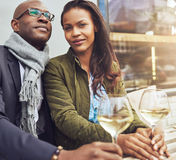 Afro american couple dating Stock Images