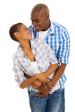 Afro american couple embracing Stock Photo