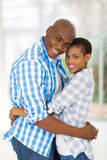 Afro american couple home Royalty Free Stock Photo