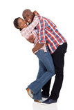 Afro american couple hugging Royalty Free Stock Photo