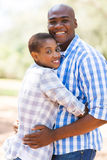 Afro american couple outdoors Royalty Free Stock Images