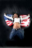 Afro-american dancer Stock Photography
