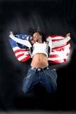 afro american dancer στοκ φωτογραφία
