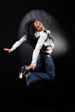 Afro-american dancer Stock Images