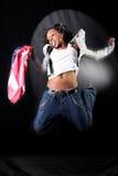 afro american dancer στοκ εικόνα με δικαίωμα ελεύθερης χρήσης