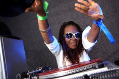 Afro american DJ Stock Photo