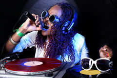 Afro american DJ Stock Photography