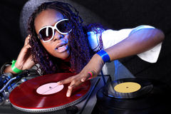 Afro american DJ Stock Images