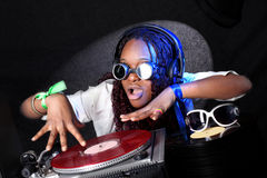 Afro american DJ Royalty Free Stock Photography