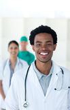 Afro-american doctor smiling at the camera Stock Photo