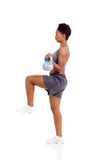Afro american exercise Stock Image