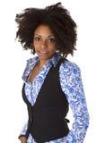 Afro american för attraktiv kvinnlig Arkivfoton