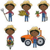 Afro-American farmer Royalty Free Stock Images
