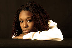 afro american girl Στοκ φωτογραφία με δικαίωμα ελεύθερης χρήσης