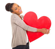 Afro american girl heart Stock Image