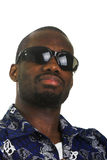 Afro-American man with sunglasses Royalty Free Stock Photography