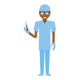 Afro american man surgeon scalpel Stock Photography