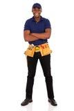 Afro american repairman Stock Image