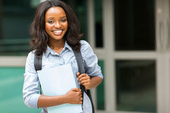 Afro american student Stock Photos