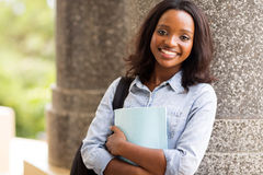 Afro american university student Royalty Free Stock Images