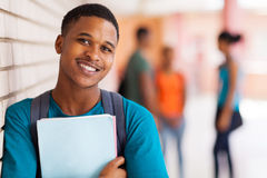 Afro american university student Royalty Free Stock Photos