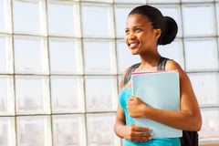 Afro american university student Royalty Free Stock Image