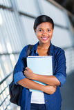 Afro american university student Royalty Free Stock Photo