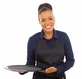 Afro american waitress Royalty Free Stock Photos