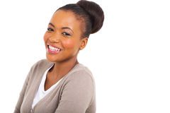 Afro american woman. Attractive afro american woman looking at the camera Stock Photos