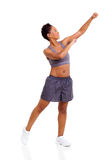 Afro american woman exercising Stock Photo