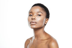 Afro american woman with fresh skin Stock Images