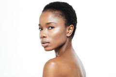 Afro american woman with fresh skin Royalty Free Stock Photos