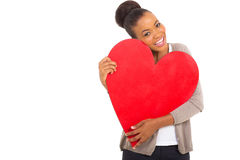 Afro american woman heart Stock Image