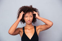 Afro american woman looking at camera Royalty Free Stock Photo