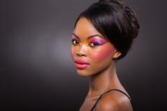 Afro american woman makeup Royalty Free Stock Image