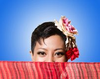 Afro-american woman  on the white Royalty Free Stock Photo