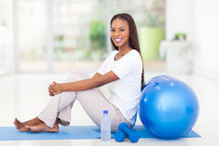 Afro american woman working out Stock Photos