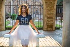 Afro-americano ou mulher negra bonita das pessoas de 50 anos Fotos de Stock Royalty Free